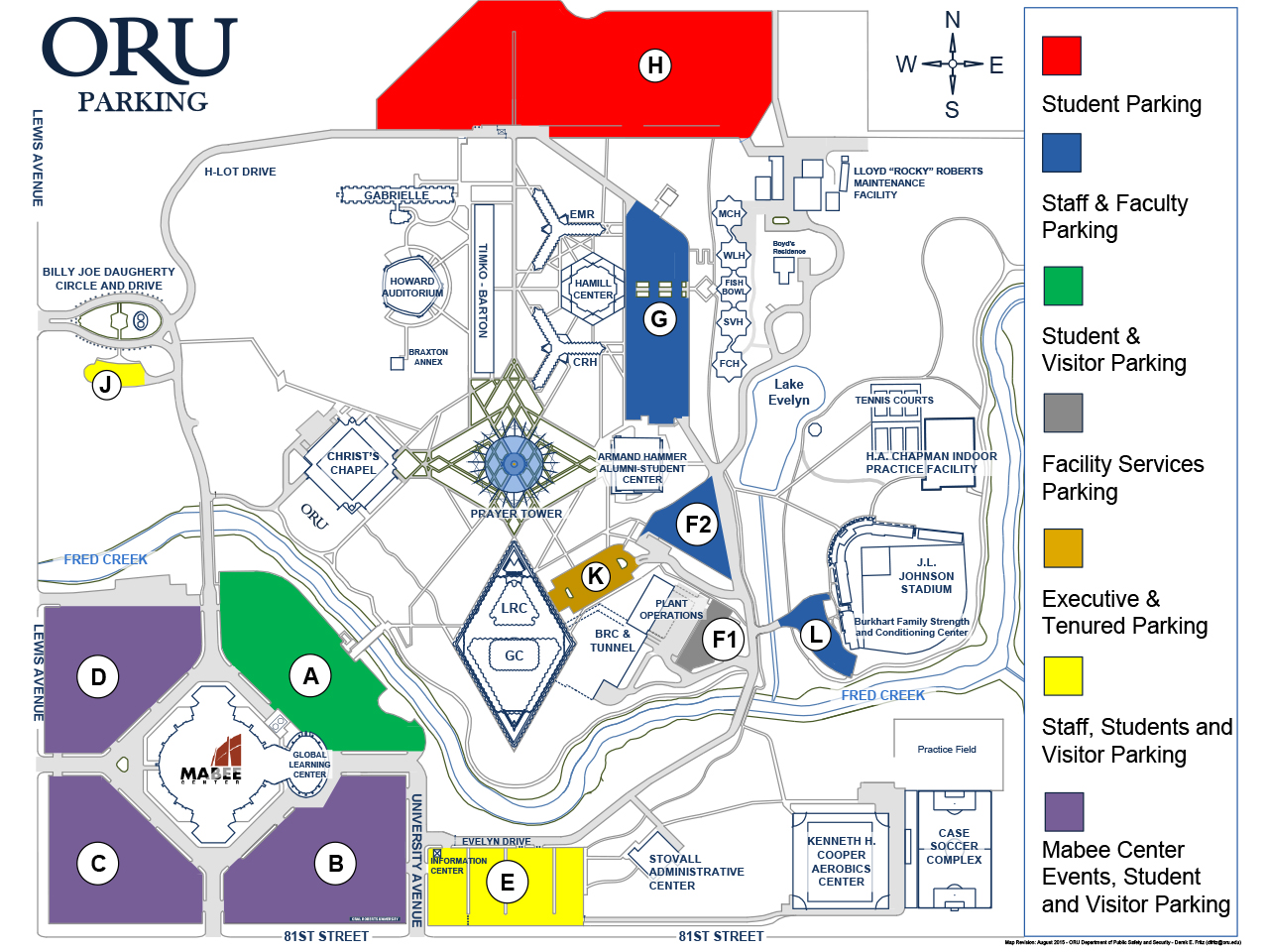 ORU Campus Map